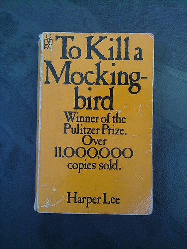 "A photograph of a paperback copy of the book ""To Kill A Mockingbird"" by Harper Lee"