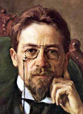 painting of writer Anton Chekhov