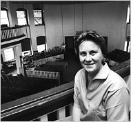 Harper Lee in the courthouse in Monroeville, Ala., May 1961