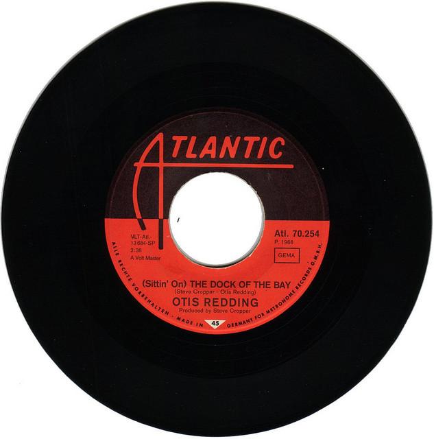 A photograph of an original Otis Redding vinyl .45