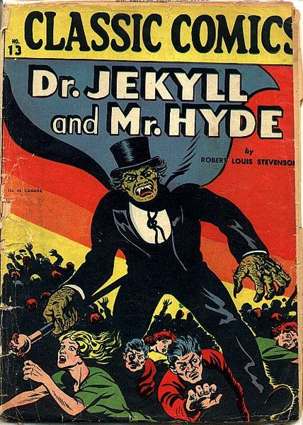 "A copy of the Illustrated Classic comic book version of ""Dr. Jekyll and Mr. Hyde"""