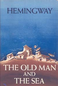 "A photograph of the book ""The Old Man and the Sea"" by Ernest Hemingway"