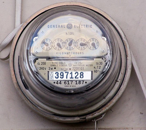 A photograph of an electrical meter.