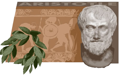 Photo of a laurel wreath and a bust of Aristotle against the backdrop of Greek artwork. The image reinforces how ancient the idea of the appeals really is.