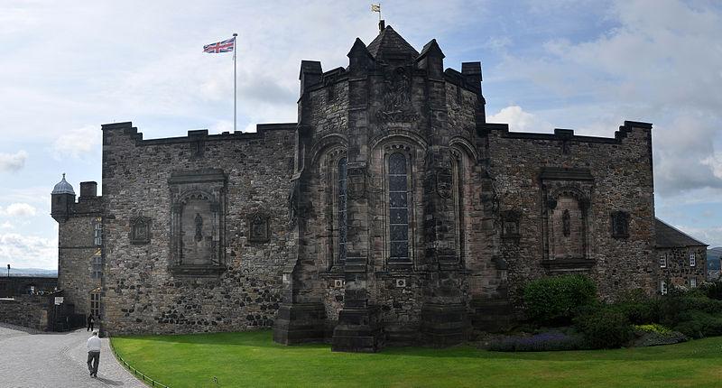 A photograph of a castle in Scotland