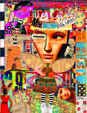 """A photographic collage titled """"My Brilliant, Fresh Ideas."""" There are numerous photos of people and other graphics."""