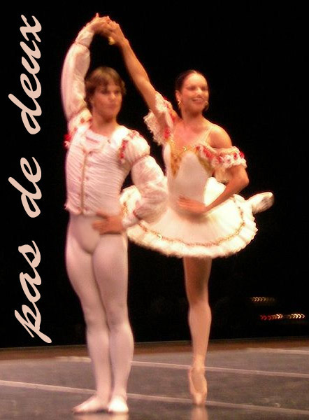 A male and female dancer of the Cuban national ballet company.