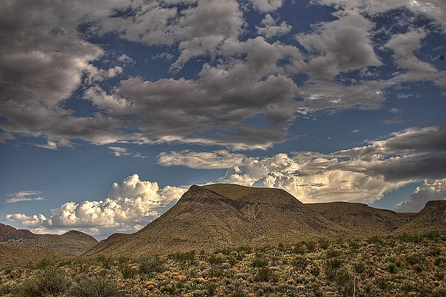 A photograph of mountains in Big Bend National Park.