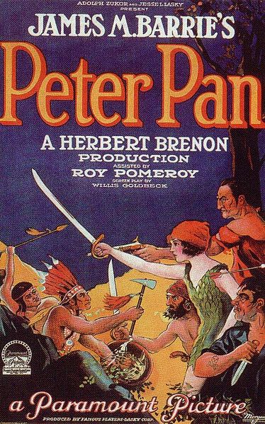 A poster for the 1924 Peter Pan movie.