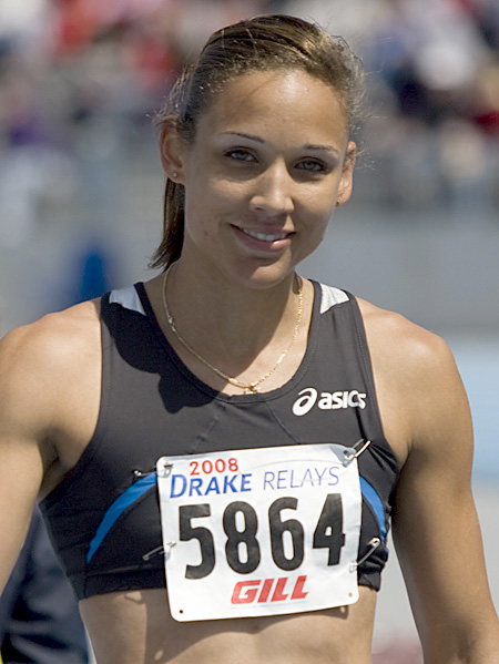 A photograph of USA track and field star Lolo Jones
