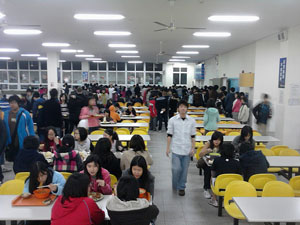 A school cafeteria in Shanghai, China