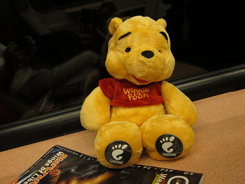 Photo of Winnie the Pooh stuffed animal