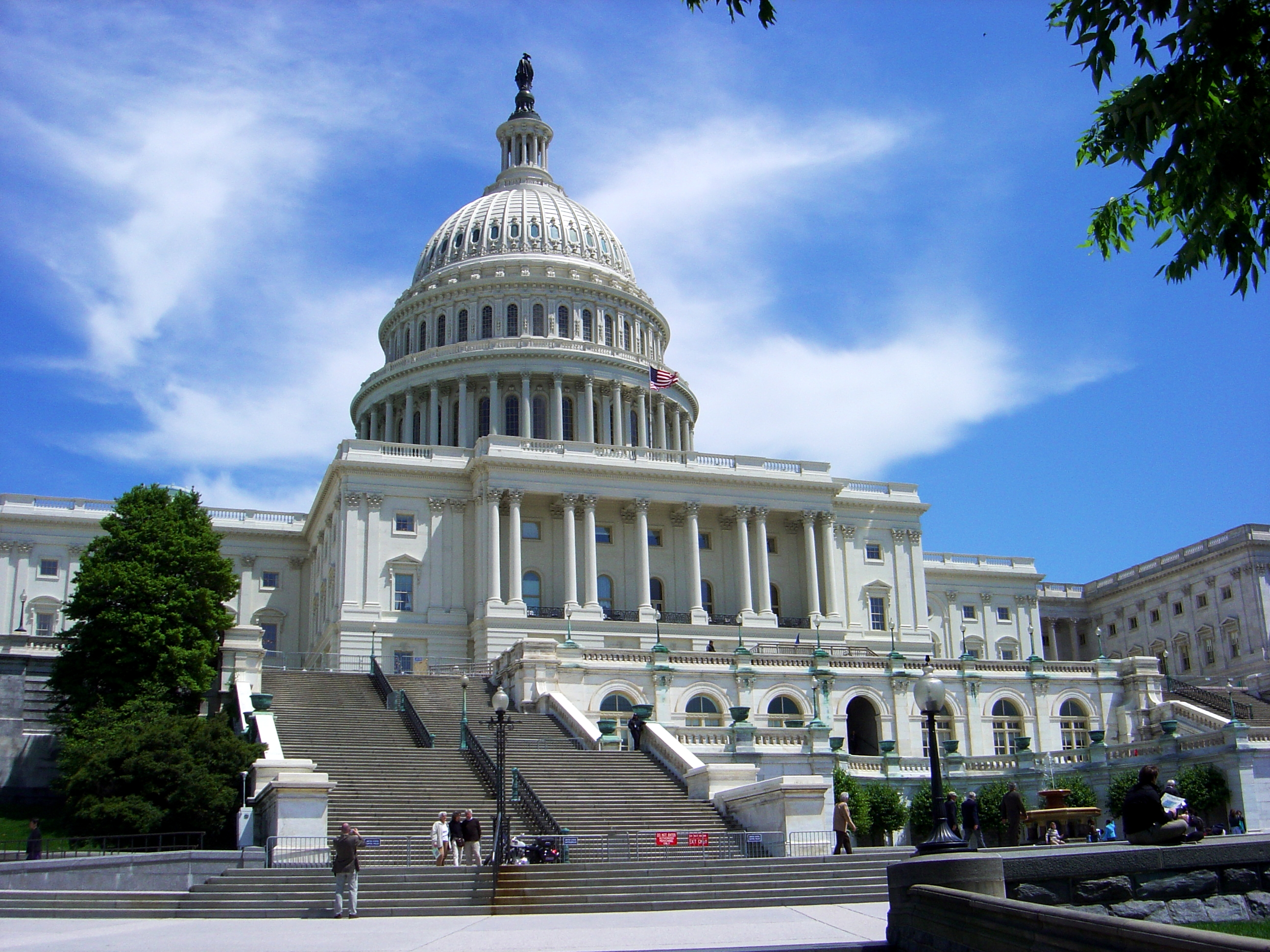 A picture of the United States capital building