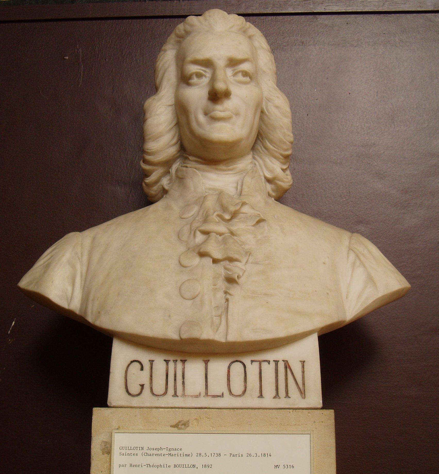 Photo of a bust of Joseph Ignace Guillotin