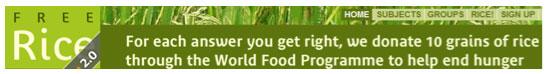 Free rice dot com banner