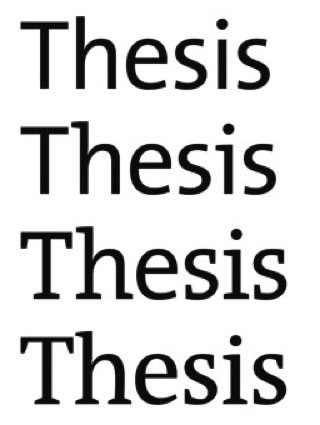"graphic that reads"" Thesis, Thesis, Thesis, Thesis"""
