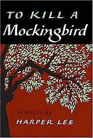 """A cover of the book """"To Kill a Mockingbird"""" by Harper Lee. It has text of the book title and author and a painted image of a tree."""