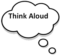 icon for a think aloud activity